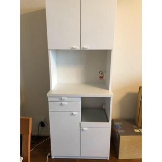 【美品】食器棚 幅70センチ (キッチン収納)
