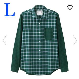 ジーユー(GU)の新品 タグ付き GU×キム・ジョーンズ フランネルチェックカラーブロックシャツ (シャツ)