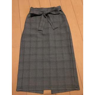 ジーユー(GU)のGUチェックスカート(ロングスカート)
