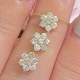 大特価♡K18 豪華1カラット  ダイヤモンドネックレス