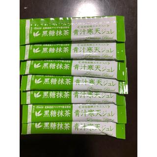 アスパイア(aspire)の黒糖 抹茶青汁寒天ジュレ7包入り 🌟翌日発送🌟(青汁/ケール加工食品)