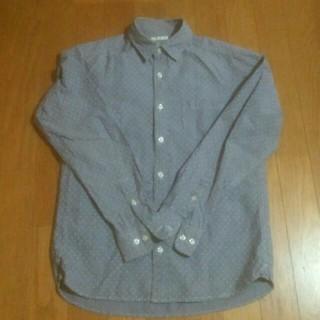 ジーユー(GU)のGUジーユー★ドット柄ダンガリーシャツ(シャツ)