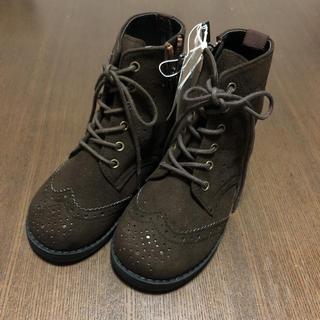 ファミリア(familiar)の新品 未使用 ファミリア ブーツ familiar 編み上げ  16cm こげ茶(ブーツ)