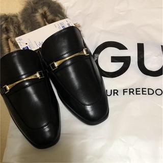 ジーユー(GU)の未使用  黒 ローファースリッパ(ローファー/革靴)