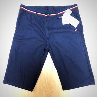 しまむら - ハーフパンツ メンズ 紺色 ウエスト79 夏物セール 定価900円 チノパン