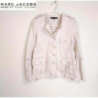 マークバイマークジェイコブス(MARC BY MARC JACOBS)のマークバイマークジェイコブス★ローズ柄 ワークジャケット ピンク サイズ4(ミリタリージャケット)