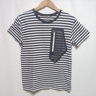 イズネス(is-ness)のイズネス is-ness★白黒ボーダー ポケット Tシャツ 圧着テープ メッシュ(Tシャツ/カットソー(半袖/袖なし))