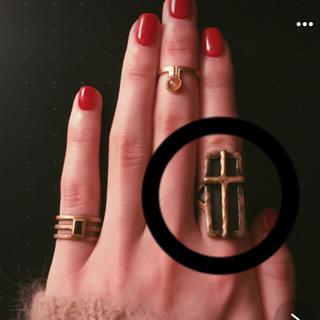 マウジー(moussy)のヴィンテージ風 十字架 リング(リング(指輪))