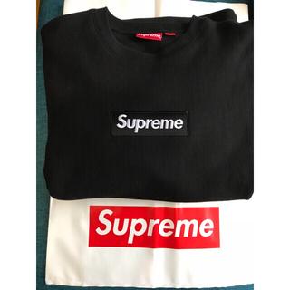 Supreme - supreme box log トレーナー 黒