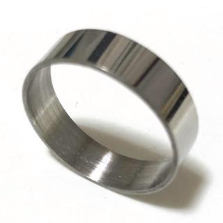 同時購入で300円 ステンレス指輪シンプル無地(リング(指輪))
