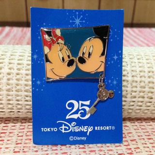 Disney - ディズニー【ピンバッヂ/25周年記念/ミッキー&ミニー/ピンバッジ】非売品