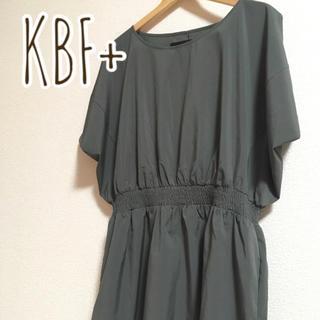 KBF+ - 【美品】着画あり KBF+  ウエストギャザーワンピース アーバンリサーチ