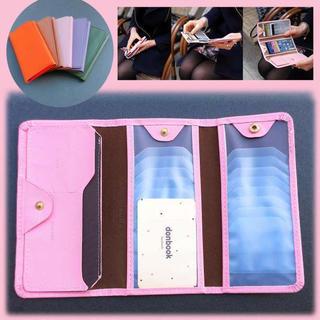 ☆セール中☆ 沢山収納可能! 三つ折り カードケース  ピンク(名刺入れ/定期入れ)