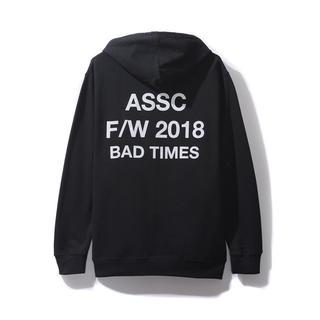 アンチ(ANTI)のXL assc Bad Times Black Hoodie 新品未使用 正規品(パーカー)