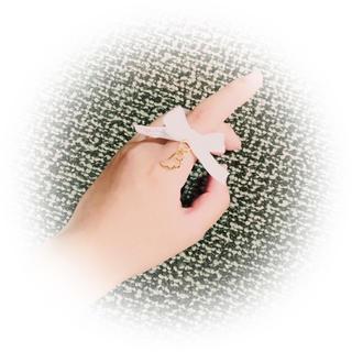 【ホワイト】天使少女のリング(リング(指輪))