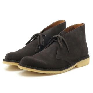 新品 送料込 本革 チャッカブーツ ダークブラウン 27cm デザートブーツ(ブーツ)