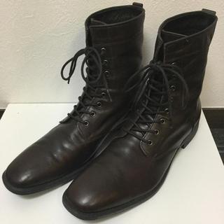 ステファノロッシ ブーツ 28センチ 8ホール レザー ブラウン 茶色(ブーツ)