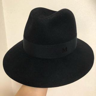 メゾンミッシェル(Maison Michel)の大丸京都店 購入 メゾンミッシェル ハット 黒 定番(ハット)