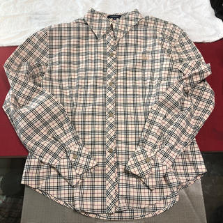 バーバリー(BURBERRY)のバーバリー レディース 長袖シャツ クリームチェック 刺繍 bu71(シャツ/ブラウス(長袖/七分))