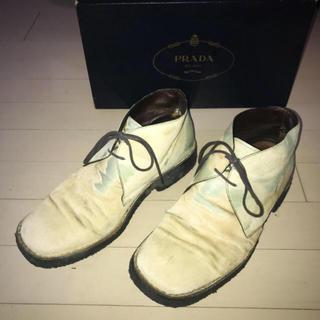 プラダ(PRADA)のイタリアフィレンツェ購入ビンテージ プラダ PRADA ハラコブーツド 箱あり(ブーツ)
