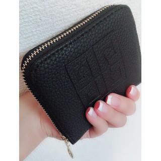 レディース財布 二つ折り 黒(ブラック) 多機能(コインケース)