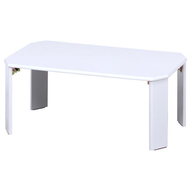 UVローテーブル ルーチェ 幅90cm ホワイト インテリア/住まい/日用品の机/テーブル(ローテーブル)の商品写真