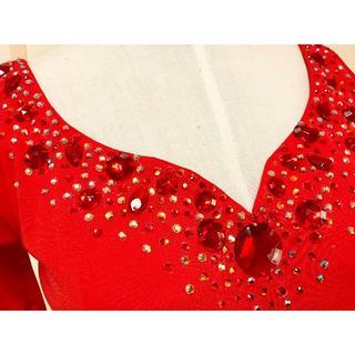 チャコット(CHACOTT)の値下げ赤チャコットChacottドレス☆社交ダンス☆スタンダードボールルームス(ダンス/バレエ)