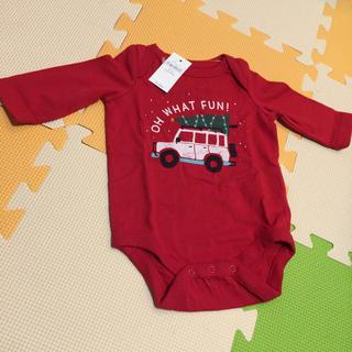 ベビーギャップ(babyGAP)のベビー服  赤 ロンパース (ロンパース)