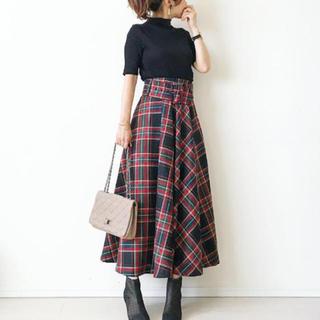 blueさま専用◡̈⃝⋆* Sサイズ♡秋冬トレンド♡チェック柄ロングスカート(ロングスカート)