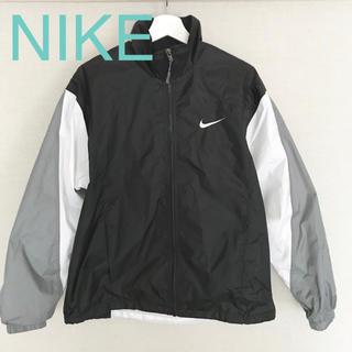 ナイキ(NIKE)のNIKE ナイロンジャケット メンズ Sサイズ 黒 白 グレー(ナイロンジャケット)