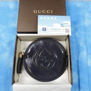 グッチ(Gucci)の☆正規品 グッチ コインケース インターロッキングG ネイビー 超美品(コインケース)