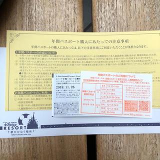 ディズニー(Disney)のディズニー 2パーク 年間パスポート 引換券(遊園地/テーマパーク)