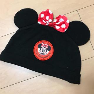 ディズニー(Disney)のミニーちゃん 耳つき帽子♡ディズニーランド購入(キャラクターグッズ)