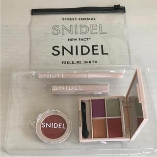 スナイデル(snidel)の新品未使用♡スナイデル 秋色コスメ&クリアポーチ(コフレ/メイクアップセット)