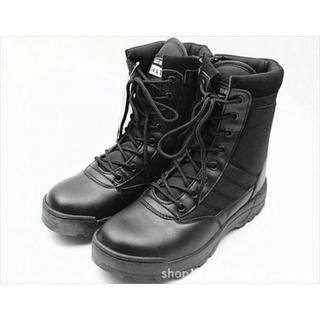 ミリタリーブーツ SWAT仕様 作業靴  サイドジッパー ブラック 27cm(ブーツ)