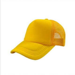 激安!無地メッシュキャップ 深さもあり形がいい 帽子 CAP ゴールド(キャップ)