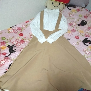 ジーユー(GU)の🌼えりか様 専用🌼 GU サス付きフレアスカート&セットアップ(ロングスカート)