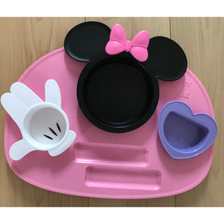 ディズニー(Disney)のミニー ベビー食器(離乳食器セット)