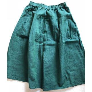 ◽️ヤンマ産業タックスカート.会津木綿(1回着用)(ロングスカート)