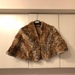 ダナキャランニューヨークウィメン(DKNY WOMEN)の美品 DKNY ケープ スヌード ストール ティペット マフラー 豹 ヒョウ(マフラー/ショール)