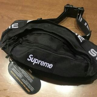 シュプリーム(Supreme)のシュプリーム ウエストバッグ 新品未使用 黒色(ウエストポーチ)