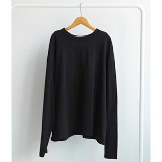 トゥデイフル(TODAYFUL)の新品*TODAYFULルーズロングT*ブラック(Tシャツ(長袖/七分))