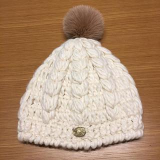 アコバルト(A.coba lt)の✨美品✨A,COBA LT アコバルト ファー付きニット帽(ニット帽/ビーニー)