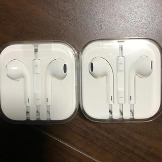 アップル(Apple)のアイフォン  純正イヤホン 2個(ヘッドフォン/イヤフォン)