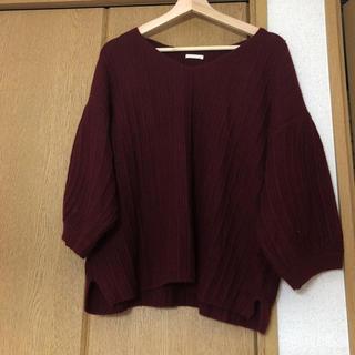 ジーユー(GU)のGU ボリューム袖ニット(ニット/セーター)
