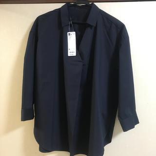 ジーユー(GU)のGU オーバーサイズ スキッパーシャツ 7分丈 新品未使用(シャツ/ブラウス(長袖/七分))