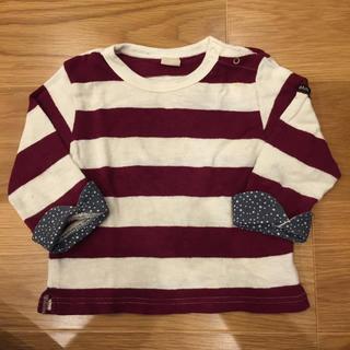 プティマイン(petit main)のプティマイン ボーダーカットソー(Tシャツ/カットソー)