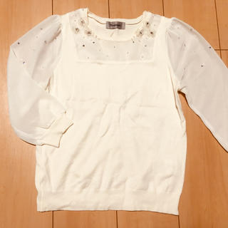 リランドチュール(Rirandture)の美品❤︎リランドチュール 白ニット(ニット/セーター)