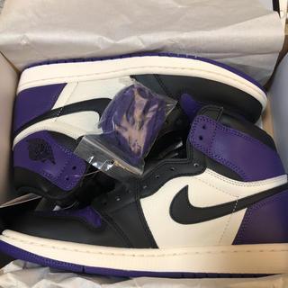 ナイキ(NIKE)のNIKE air jordan1  OG court purple(スニーカー)