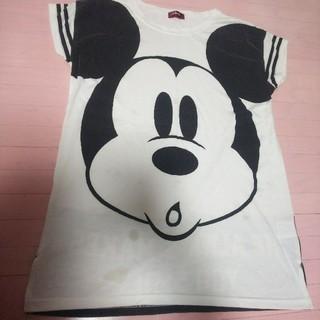 ディズニー(Disney)のミッキー Tシャツワンピ(ミニワンピース)
